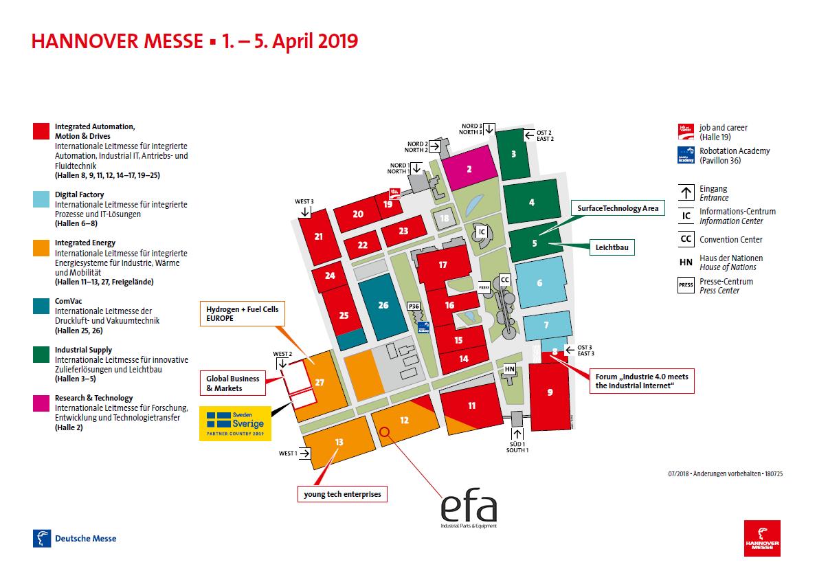 efa GmbH mit der efabox auf der Hannovermesse Halle 12 Stand E07